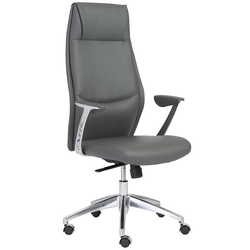 Fabulous High Office Chair Cros Modern High Back Office Chair Gray