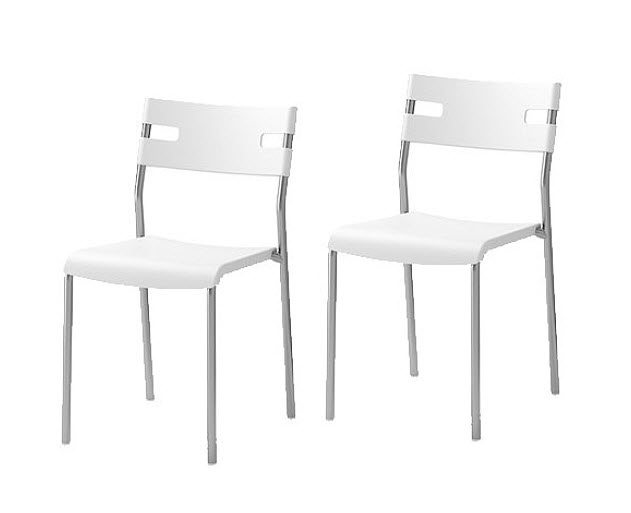 Fabulous Ikea White Chair Chairs Inspiring Stackable Eames Plastic