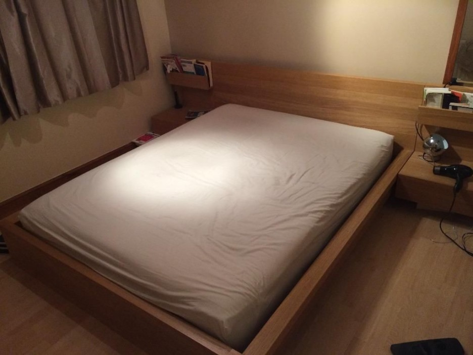 Fabulous Ikea White Full Size Bed Bedroom Captivating Bedroom Decoration Using Solid Maple Wood Malm
