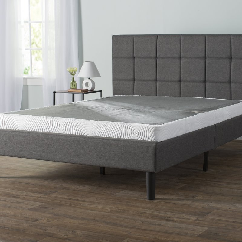 Fabulous King Bed Mattress And Box Spring Bed Frame No Box Spring Needed Wayfair