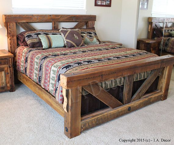 Fabulous King Size Wood Bed Frame Best 25 Rustic Bed Ideas On Pinterest Rustic Bedroom Furniture