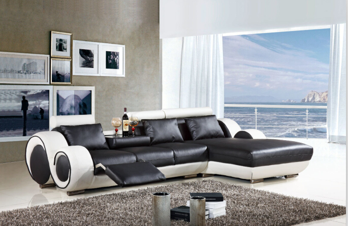 Fabulous L Shaped Recliner Sofa Aliexpress Buy Modern Sectional Leather Sofa With L Shaped