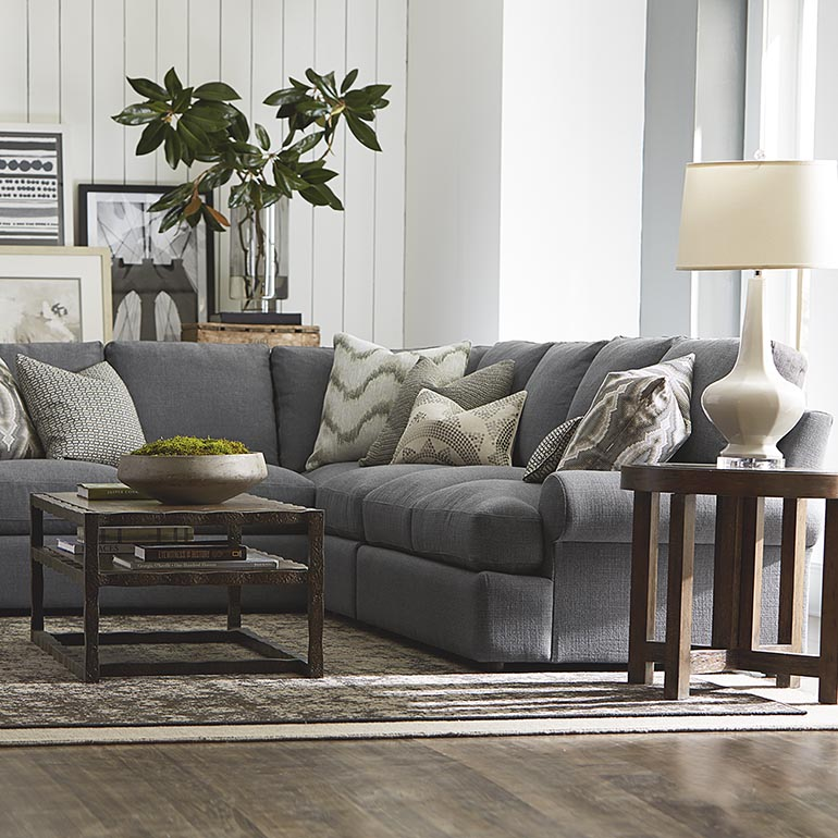Fabulous L Shaped Sectional Couch Sutton L Shaped Sectional Living Room Furniture Bassett Furniture