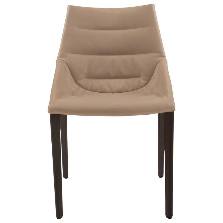 Fabulous Leather And Wood Dining Chairs Wood And Leather Outline Dining Chair Arik Levy For Molteni
