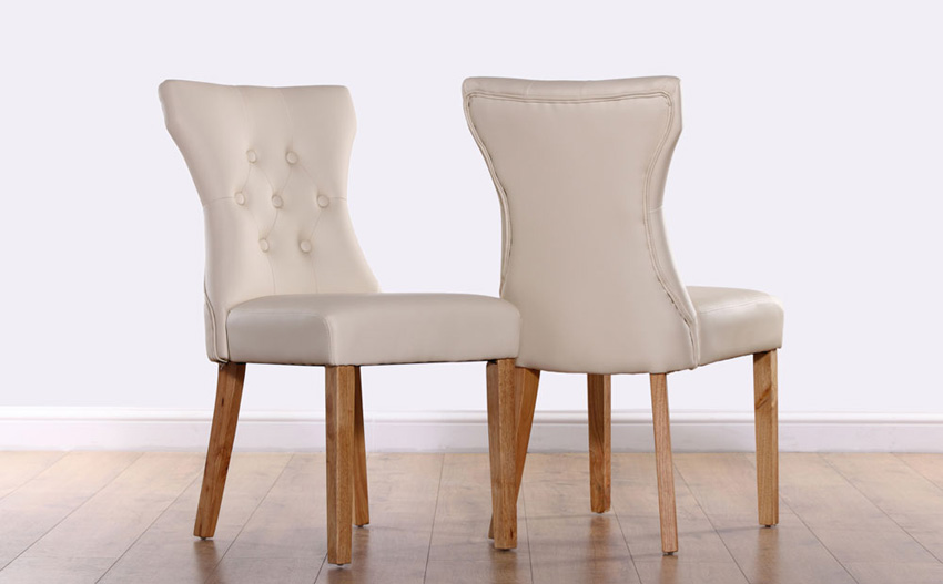 Fabulous Leather Back Dining Chairs Fantastic Ivory Dining Chairs With Bewley Ivory Leather Button