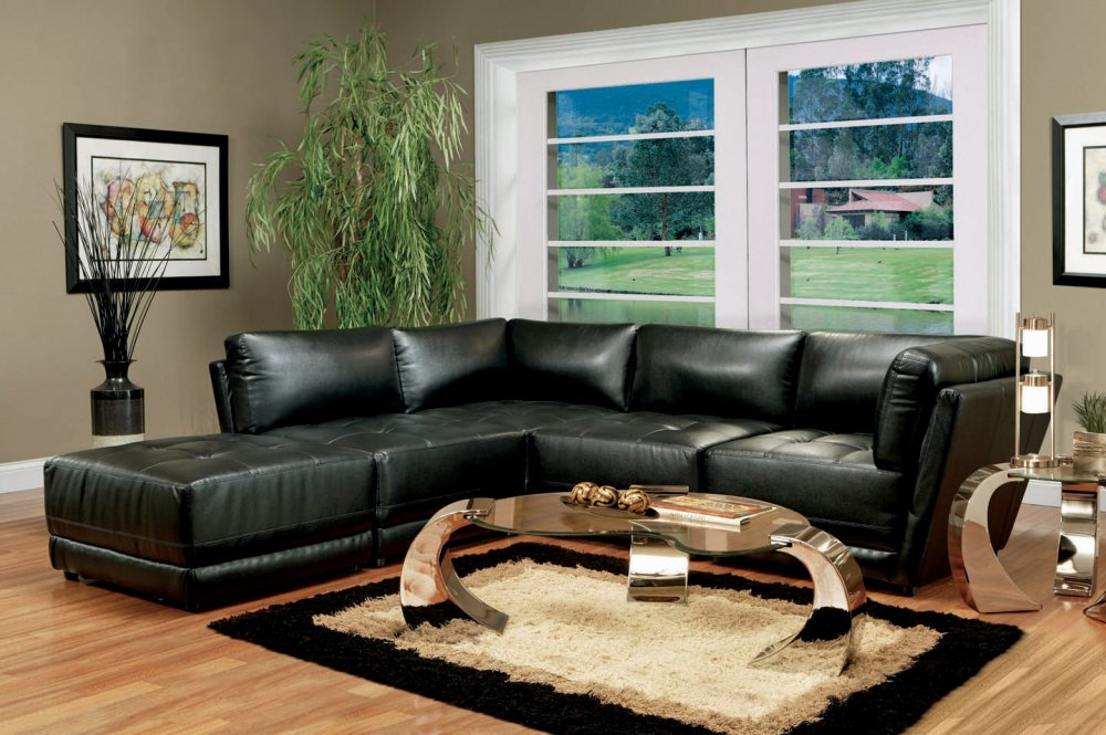 Leather Sectional Living Room Furniture Bgfurnitureonline