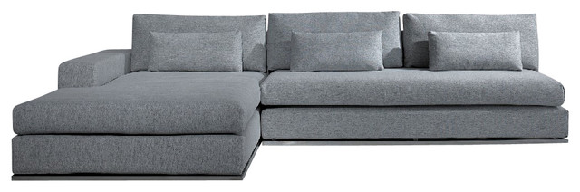 Fabulous Light Grey Sectional Couch Ashfield Modern Light Grey Fabric Sectional Sofa Contemporary
