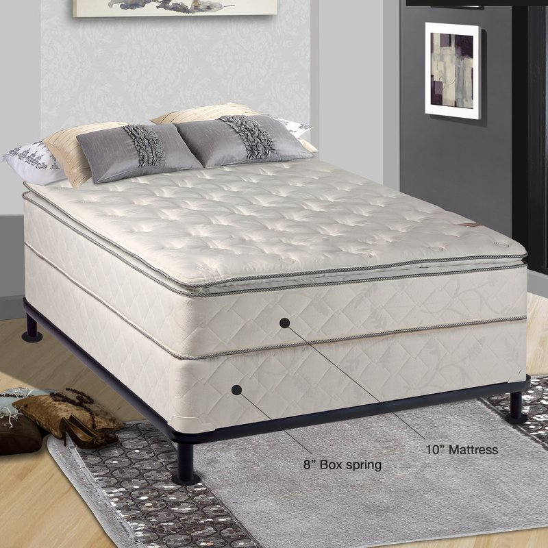 Fabulous Mattress And Box Spring Spinal Solution Orthopedic 10 Firm Innerspring Mattress With Box