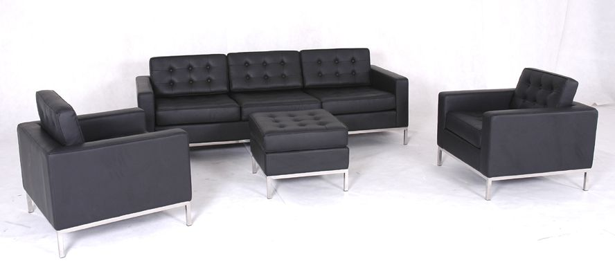 Fabulous Modern Black Leather Couch Incredible Modern Black Leather Sofa With Furniture Modern Black