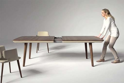 Fabulous Modern Extendable Dining Table Pleasant Design Ideas Extendable Dining Room Tables All Dining Room