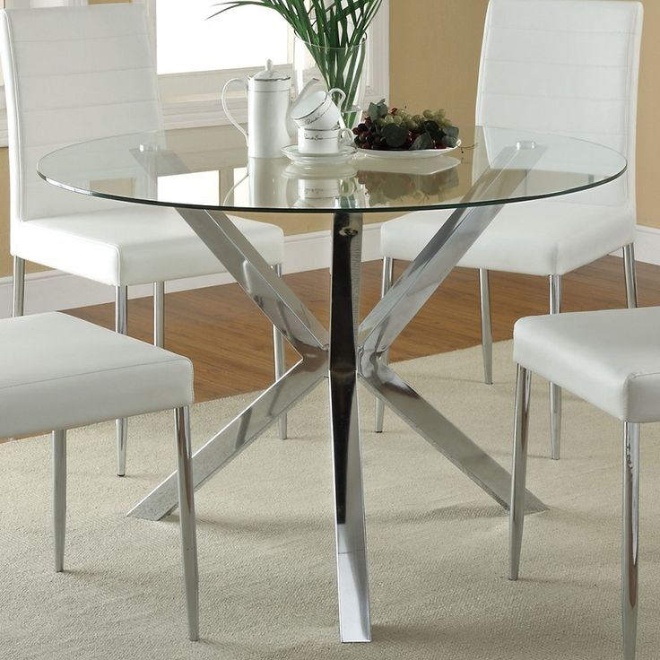 Fabulous Modern Glass Round Dining Table Best 25 Glass Top Dining Table Ideas On Pinterest Glass Dinning