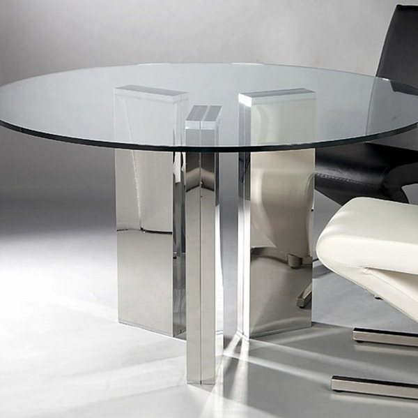 Fabulous Modern Glass Round Dining Table Modern Round Glass Dining Table Decoist Modern Glass Dining Room