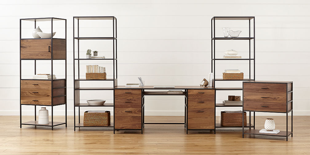 Fabulous Modular Home Office Cabinets Modular Office Furniture Crate And Barrel