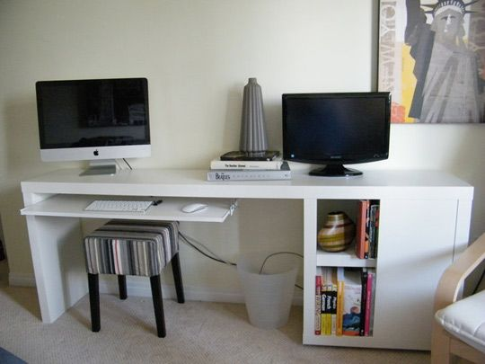 Fabulous Narrow Office Desk Amazing Long Computer Awesome Home Design Ideas With