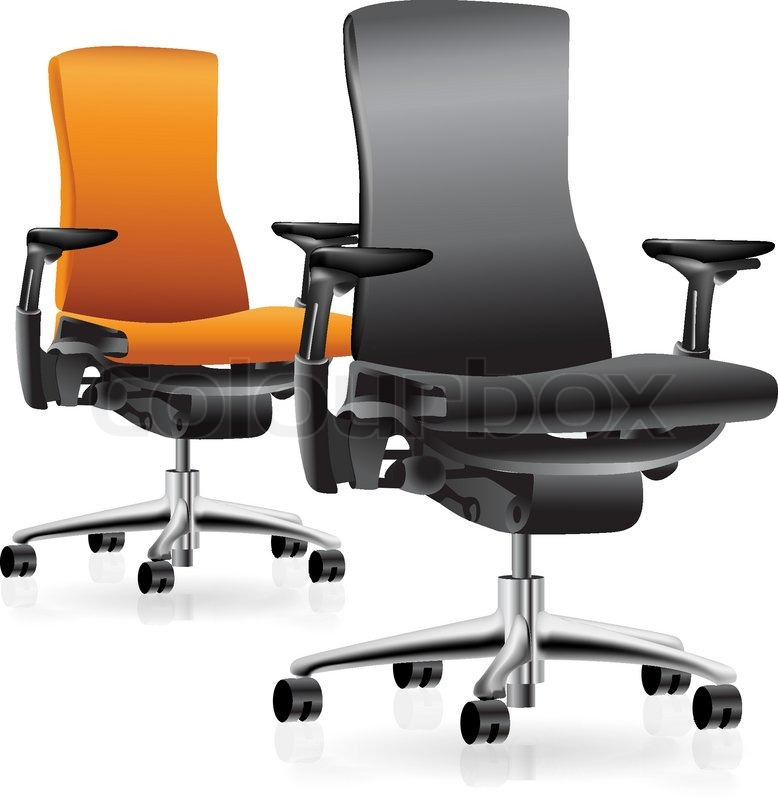 Fabulous Office Chair Set Set Of Two Office Chairs Vector Clip Art Stock Vector Colourbox