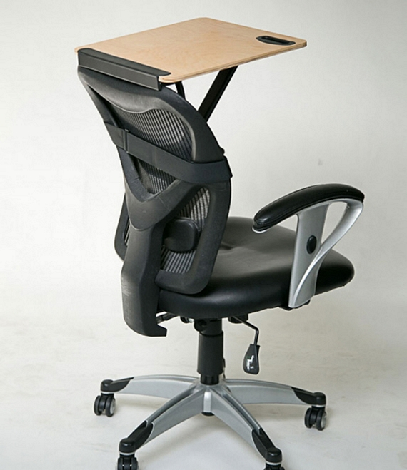 Fabulous Office Chair With Built In Desk Storkstand This Portable Tray Can Convert Office Chairs Into