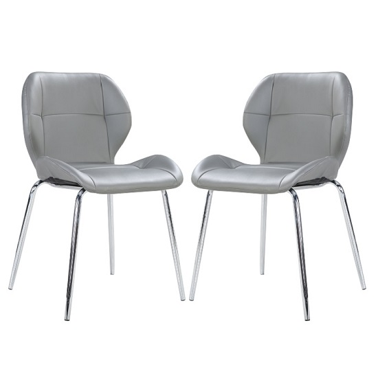 Fabulous Pair Of Dining Chairs Darcy Dining Chair In Grey Faux Leather In A Pair 27198