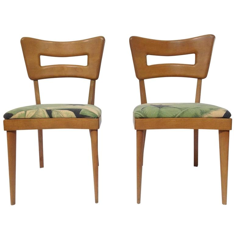 Fabulous Pair Of Dining Chairs Pair Of Mid Century Modern Heywood Wakefield Dog Biscuit Dining