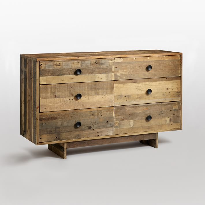 Fabulous Pine 6 Drawer Dresser Emmerson Reclaimed Wood 6 Drawer Dresser Natural West Elm