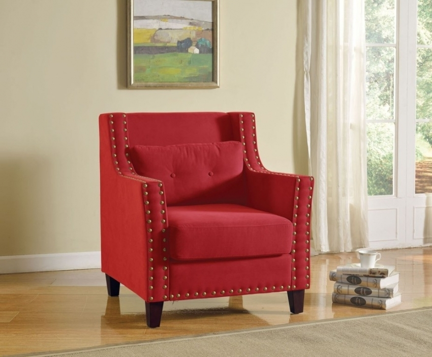 Fabulous Red Accent Chairs With Arms Red Accent Chair With Arms Carols
