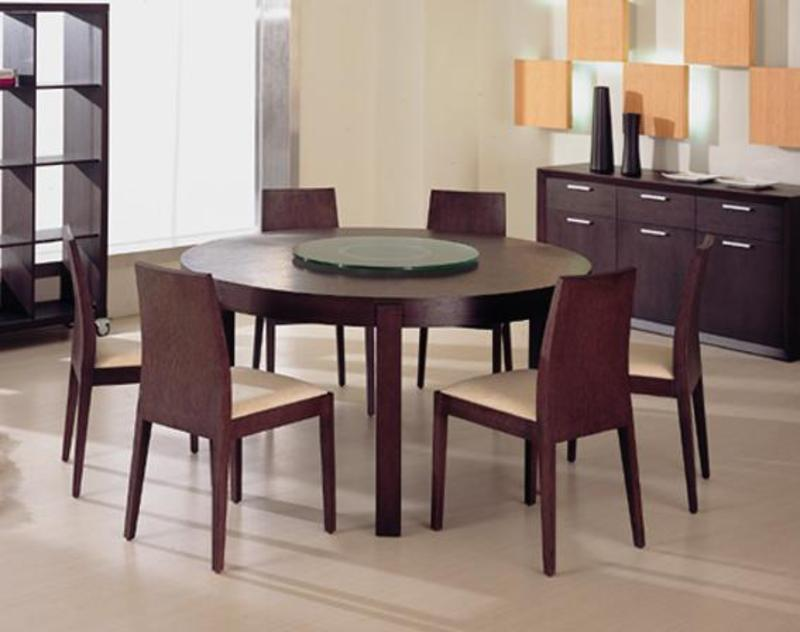 Fabulous Round Dining Table Modern Design Brilliant Round Dining Table For 6 With Modern Home Interior