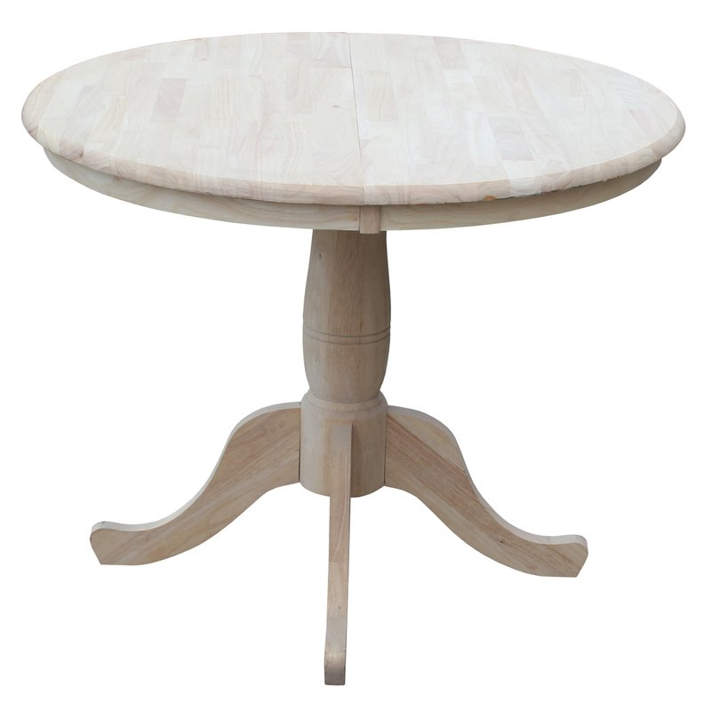 Fabulous Round Table Wood Extendable Kitchen Dining Tables Youll Love Wayfair