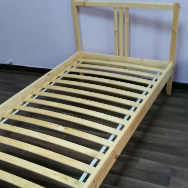 Fabulous Single Wooden Bed Frames Ikea Frame Home Furniture On Carou