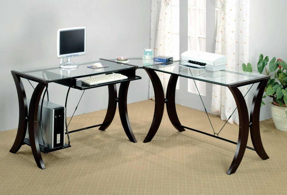 Fabulous Slim Home Office Desk Mesmerizing Glass Top Computer Desk Ikea 86 With Additional Layout