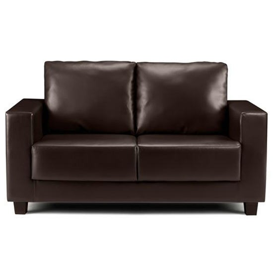 Fabulous Small Brown Leather Sofa Brown Small Leather Sofa For Small Space Eva Furniture