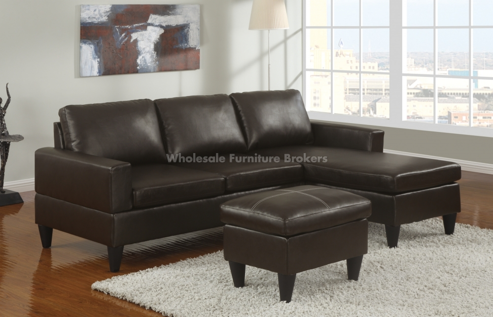 Fabulous Small Leather Sectional Sofa With Chaise Sofa Amusing Small Leather Sectional Sofa Arachne Reversible