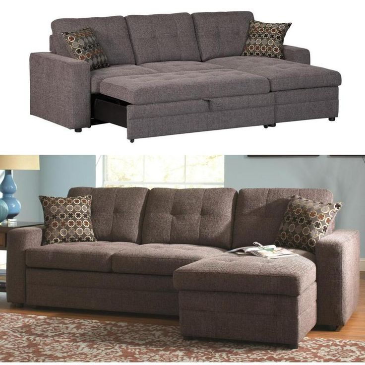 Fabulous Small Sectional Sofa Bed Coaster Gus Charcoal Chenille Upholstery Small Sectional Storage