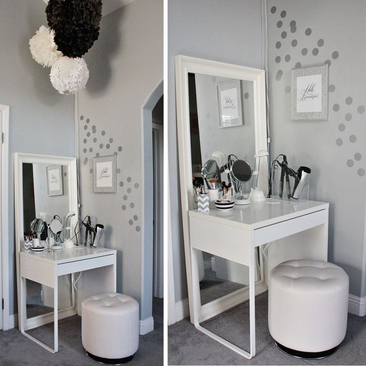Fabulous Small White Bedroom Vanity Best 25 Small Makeup Vanities Ideas On Pinterest Diy Makeup