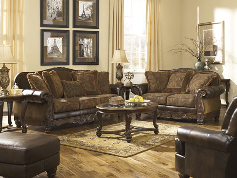 Fabulous Sofa Loveseat And Ottoman Set Living Rooms At Mattress And Furniture Super Center