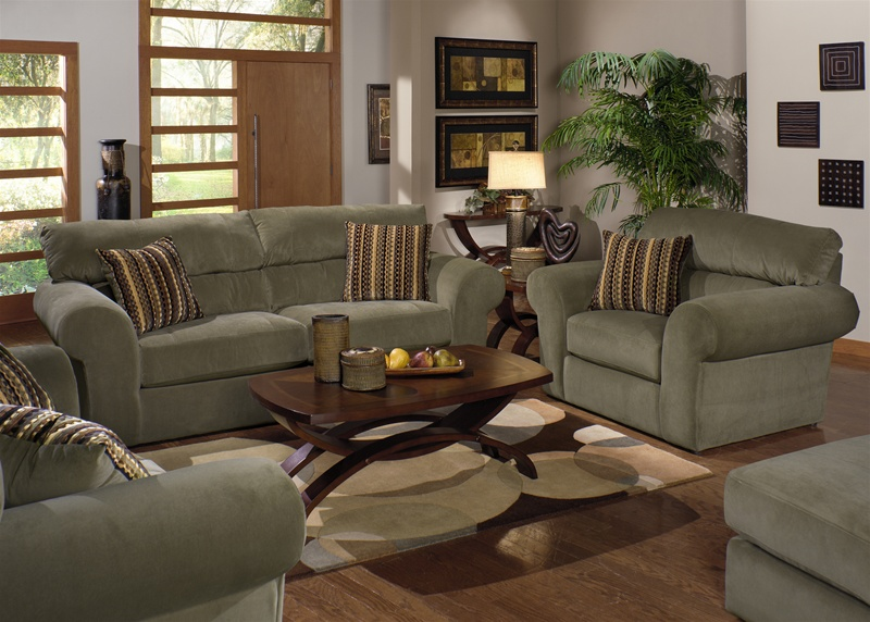 Fabulous Sofa Loveseat And Ottoman Set Mesa 2 Piece Sofa Loveseat Set In Sage Fabric Jackson