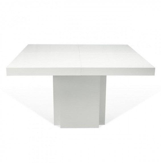 Fabulous Square White Dining Table Square Dusk Dining Table Brown Or White Gloss Temahome