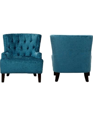Fabulous Teal Velvet Accent Chair Pleasing Blue Velvet Accent Chair For Your Furniture Chairs With