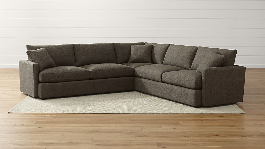 Fabulous Three Piece Sectional Couch Lounge Ii Soft Sectional Sofa Crate And Barrel