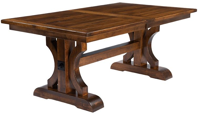 Fabulous Trestle Dining Table Dedon Planked Trestle Dining Table Countryside Amish Furniture