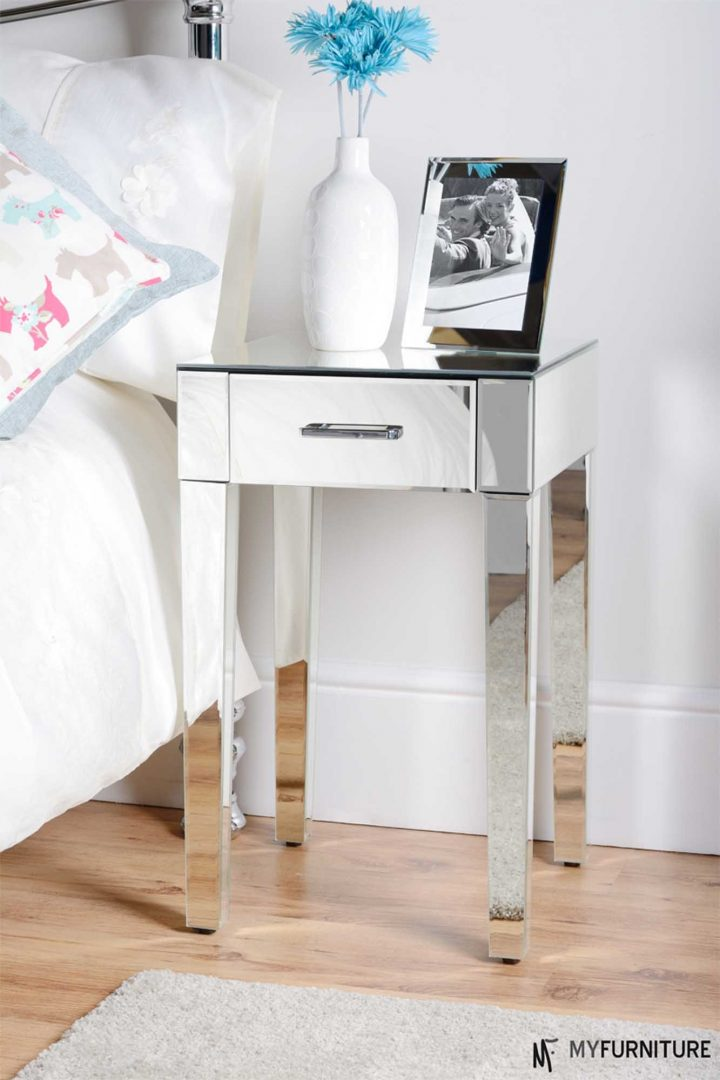 Fabulous White And Silver Nightstand Nightstand Simple Side Table Silver Nightstand Bedroom Furniture