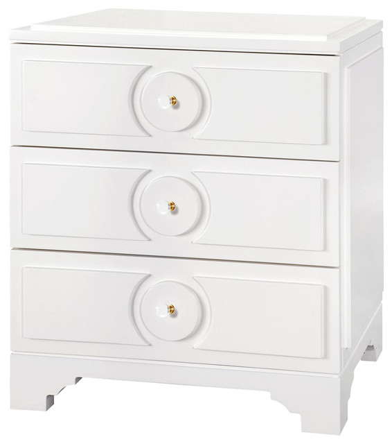 Fabulous White And Silver Nightstand Price Hollywood Regency White Lacquer Silver Night Stand