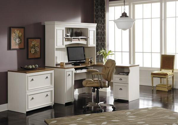 Fabulous White Home Office Furniture Sets White Home Office Furniture Sets Home Interior Decor Ideas