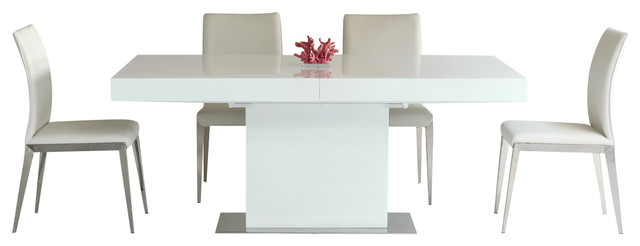 Fabulous White Lacquer Dining Table Modern Durham Modern Extendable Dining Table Modern Dining Tables