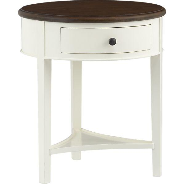 Fabulous White Nightstand With Wood Top Wood Top Single Drawer White Nightstand
