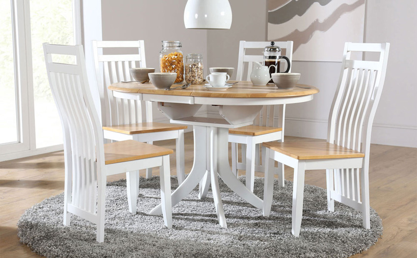 Fabulous White Round Kitchen Table Best Small Dining Room Table And Chairs Kitchen Dining Sets