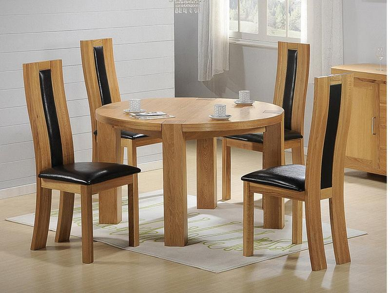 Fabulous Wood Dining Chairs With Leather Seats Furniture Elegant And Contemporary Wood Dining Table With