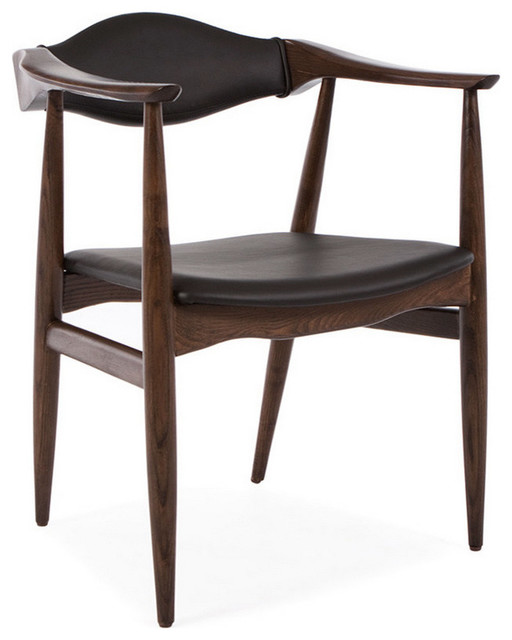 Fabulous Wooden Dining Chairs With Arms Midcentury Danish Leather Dining Armchair Midcentury Dining