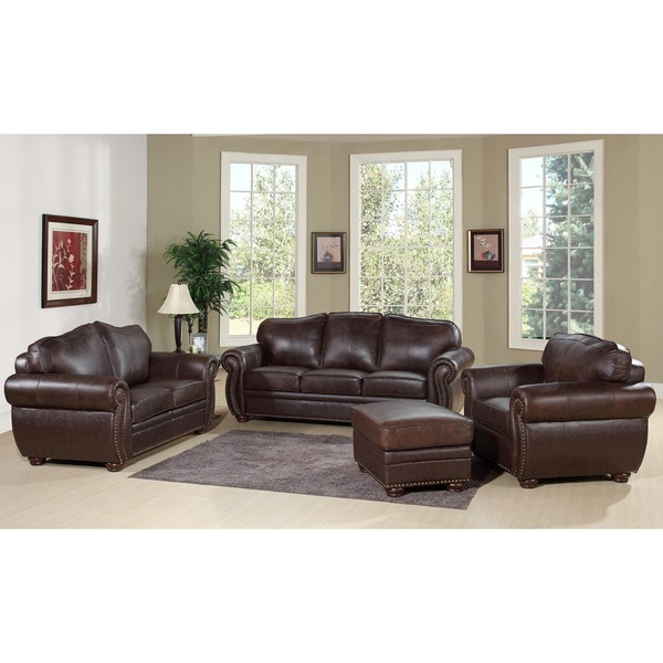 Gorgeous 4 Piece Leather Living Room Set Delightful Astonishing Top Grain Leather Living Room Set Living