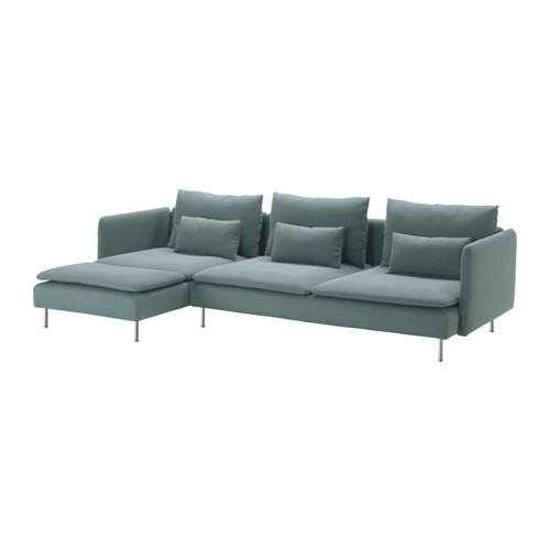 Gorgeous 4 Seater Sofa Ikea Sderhamn 4 Seat Sofa With Chaise Longuefinnsta Turquoise Ikea
