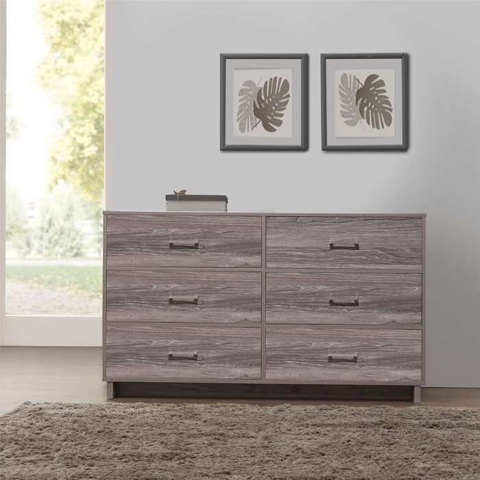 Gorgeous 6 Drawer Chest Of Drawers Zipcode Design Chicopee Modern 6 Drawer Dresser Reviews Wayfair