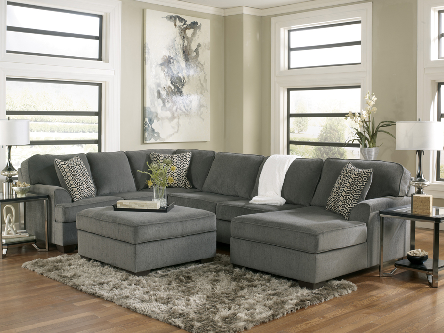 Gorgeous Ashley Furniture Chenille Sofa Sectionals